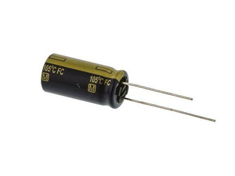 ELKO 1200uF 16V 105°C 10x25 Low-ESR álló 1200/16P-105 ESR P