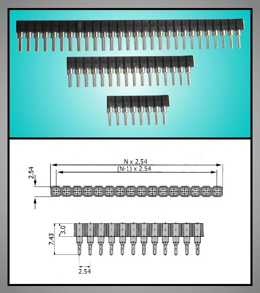 IC foglalat egysoros 16p IC-S 16P