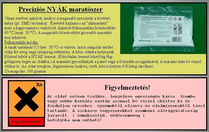 Nátrium-perszulfát B327 precíziós NYÁK marató szer 100g PPE-M002-0100G -