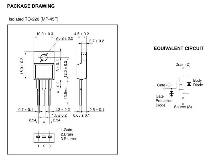 N-MOS+Z 600V 4A/16Ap. 30W >1.6R 2SK3114