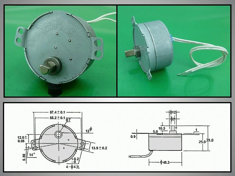 Szinkron Motor 230VAC 4W SD83-A MW-M023
