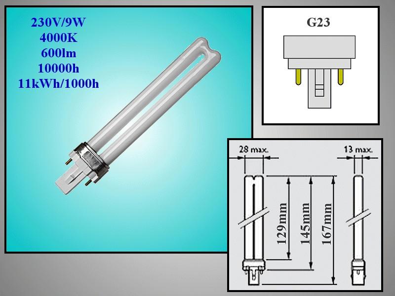 230V 9W 600Lum. G23 2P FD9-F840 LAMP 0140