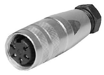 M18 C091-31D 7p. csatlakozó lengő aljzat CSAT-M1807F