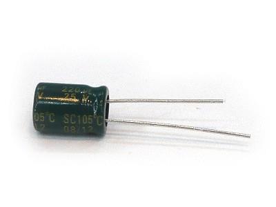 ELKO 220uF 25V 105°C 8x11 Low-ESR 220/25P-105ESR T