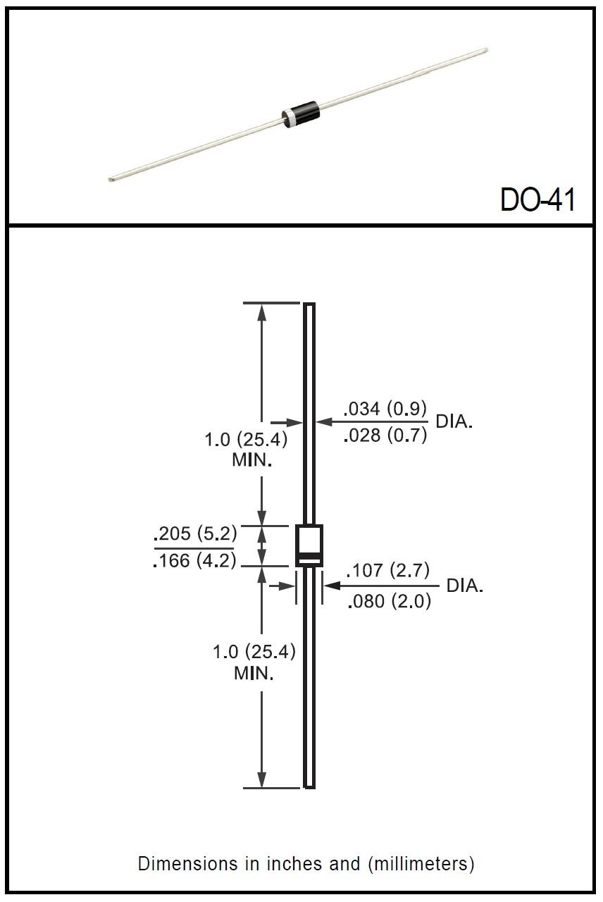 SI-D 1000V 1A/30Ap 1N4007 -