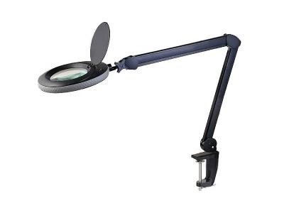 240V 50Hz 5D fekete nagyítós asztalilámp LED LAMP 00002-5DB/LED