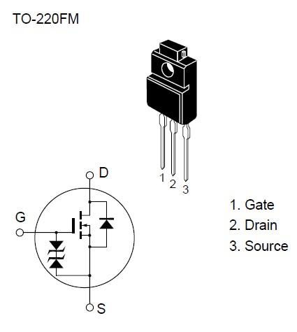 N-MOS 600V 5A 35W <1.5R(2.5A) 2SK1404 -