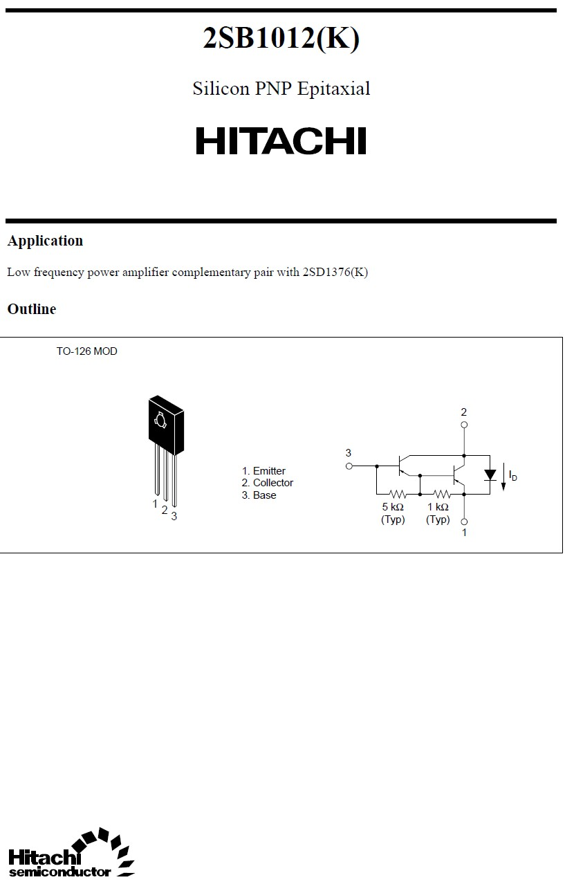 SI-P DARL+D 120V 1.5A 20W 2000 2SB1012 -