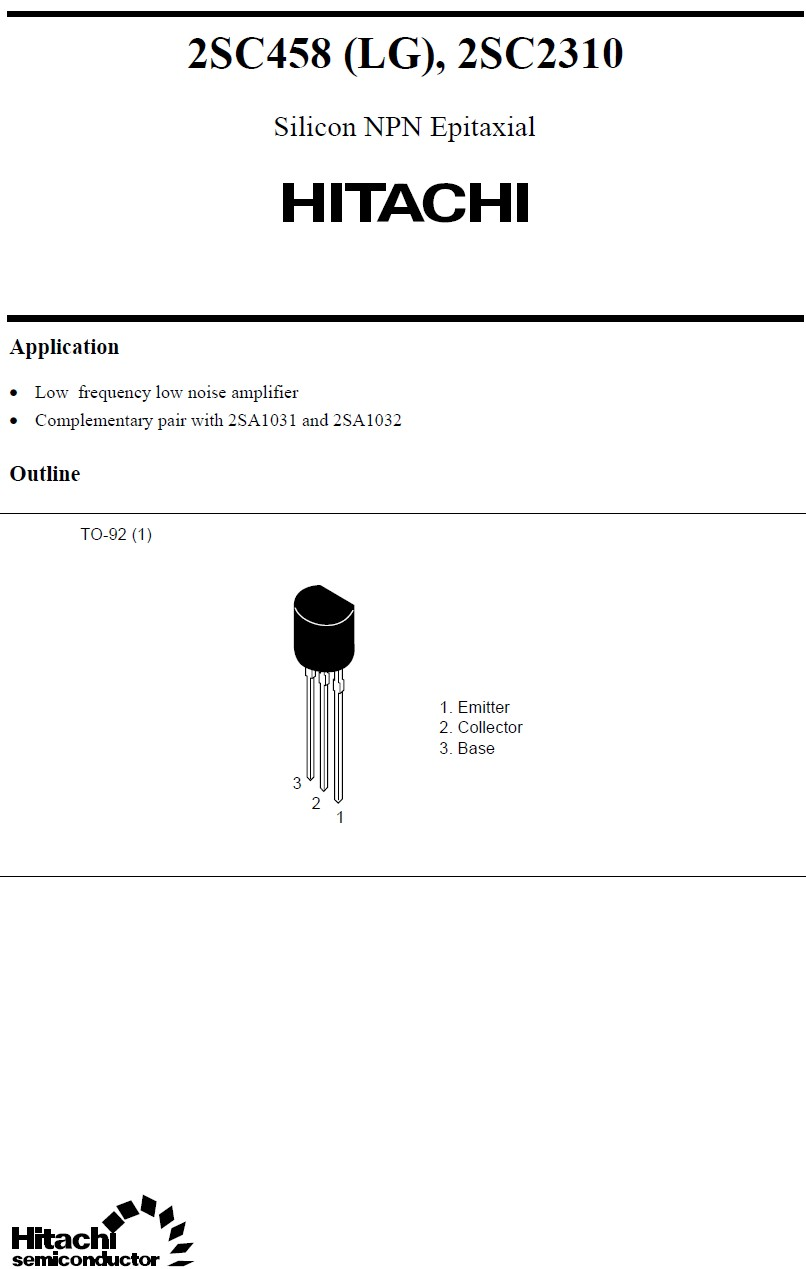Tranzisztor NPN 55V 0.1A 0.2W 230MHz UNI 2SC2310 2SC2310 -