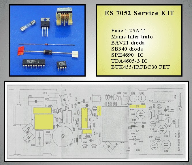 VCR SERVICE KIT (A1)  ES7052 310.32257 -