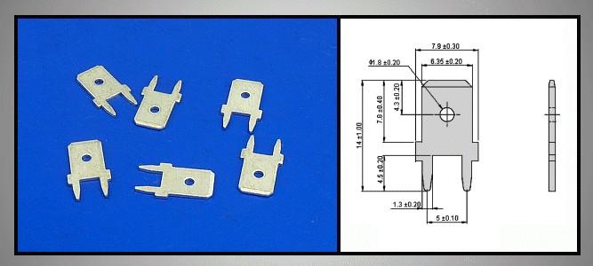 Csuszósaru nyákba 6.3/0.8/14mm CS-K226308L