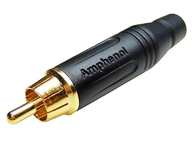 RCA dugó - fekete profi CSAT-C011/B