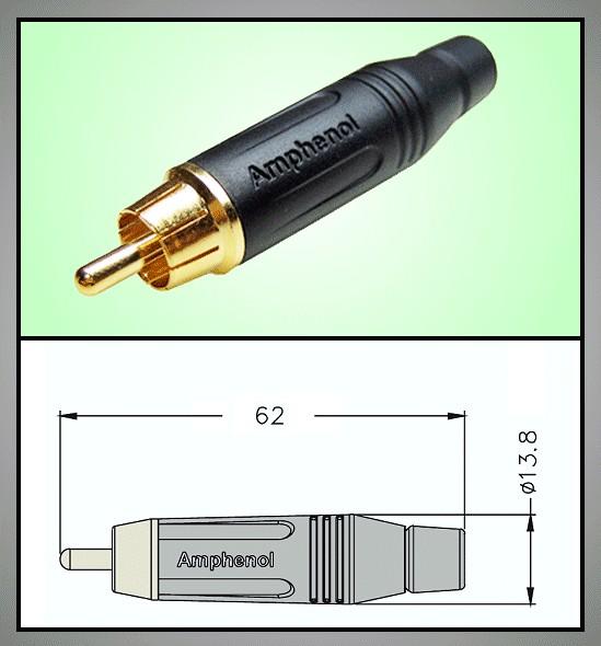 RCA dugó - fekete profi CSAT-C011/B -