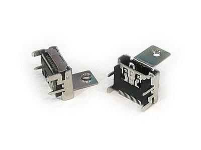 HDMI 19p aljzat panelre rögzítéssel SMD CSAT-HDMI02-SMD