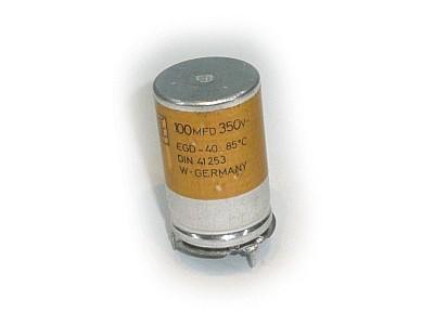 ELKO 100uF 350V 85°C 4p. álló ROE 100/350A3