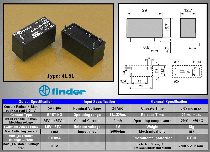 SSR 1x35V 5A 24VDC RELAY-418170249024