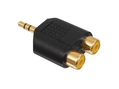 Jack 3.5mm dugó sztereó - 2x RCA aljzat AC-010 GOLD