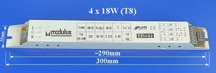 Előtét fénycső gyújtáshoz 1x18W LAMP 0065/1X18 -