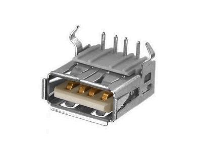 USB-A aljzat 4p. PCB (lábak 90°) CSAT-USB-A