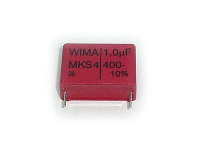 Kondenzátor 1uF 400V 10% Polyester RM-22,5 WIMA C 1U0 400/MKT/W