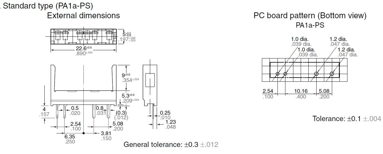 RELÉ foglalat panelbe 4p. PA1a-PS RELAY-F/PA1A-PS -