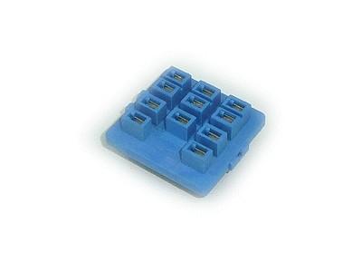 RELÉ foglalat panelbe 11p. Sarus 92.13 (kék) RELAY-F/9213