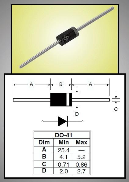 SI-D 600V 1A/30Ap 200ns Vf:1.2V 1N4937