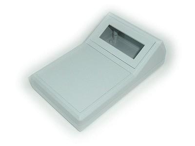 BOX 154x85x49mm döntött, ablakos, elemtartó hellyel BOX TEKO590D.5