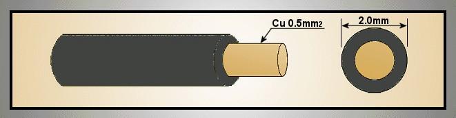 MCU 0.5mm2 fekete 1eres kábel, tömör érrel CABLE MCU0.5F