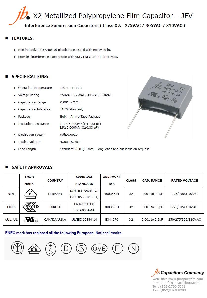 X2 kondenzátor 10nF 275VAC 10% RM-15 (láb ~25mm hosszú) C 10N AC275 X2 J