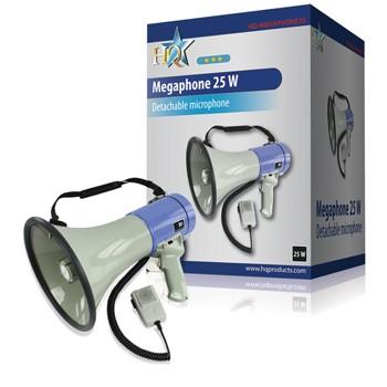 MEGAFON 25W/8ohm, levehető mikrofonnal MEGAPHONE 25W-KM