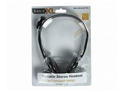 Stereo headset fekete, mikrofonnal 20-20KHz, csatlkozók 2x3.5mm jack HEAD PHONE PC14