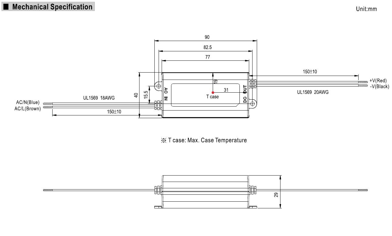 LED tápegység feszültséggenerátoros 16W/12V P.SUP.APV1612