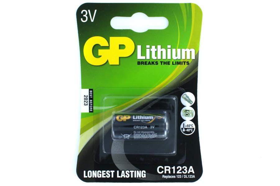 3V lítium fotó elem, GP CR123A BAT CR123A.GP