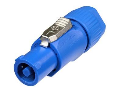 Gyors táp csatlakozó, biztosító karral, kék, csavaros kábel rögzítés NTR-NAC3FCA