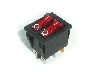 Billenő piros, világító 2x1 áramkörös I/O 15A 250VAC SW2230/R1