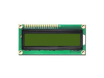 LCD Modul 2x16 Character 5*7Dots+Cursor 5.0V LCD ERM1602SYG-6_5.0