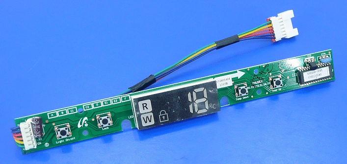 Borhűtő elektronika + kijelző W8-DA4100591A -