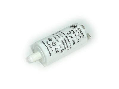 Szűrő kondenzátor 2uF 475VAC 5% 25x49 (2db sarus) W0-C002/475