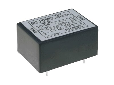 250VAC 10A Hálózati zavarszűrő PCB 5p CSAT-PF-FYF10T6