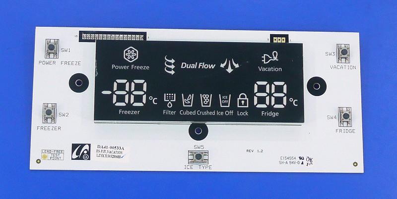 Hűtő kijelző W8-DA4100533A -