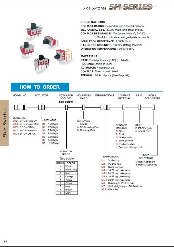 Toló kapcsoló PCB 1x3p.12.7x6.6mm (1 áramkörös) SW18002PH1