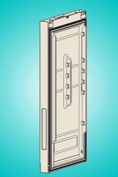 Hűtő ajtó -> fekete üveg W8-DA9102921A -