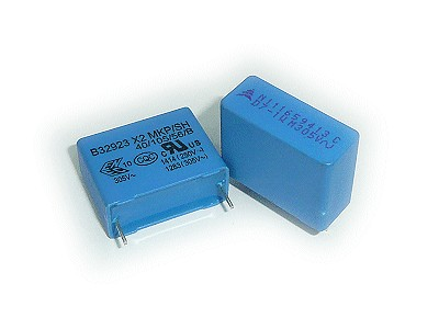 X2 kondenzátor 1uF 305VAC 20% RM-22.5 C 1U0 AC305 X2 22