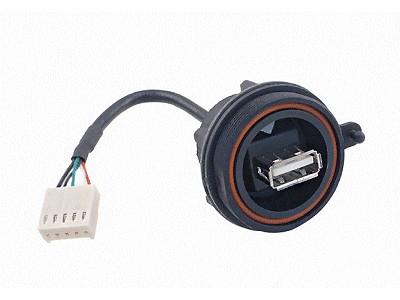 USB-A aljzat 4p. Vízmentes IP68 szerelhető CSAT-USB-A/IP68