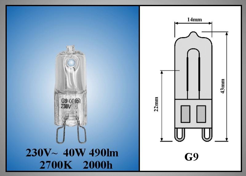 LAMP G9 40W 230V +300°C MW-LAMP 164 -