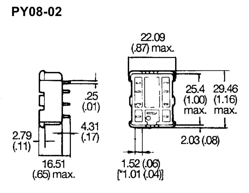 RELÉ foglalat panelbe 8p. PY08-02 RELAY-F/PY08-02