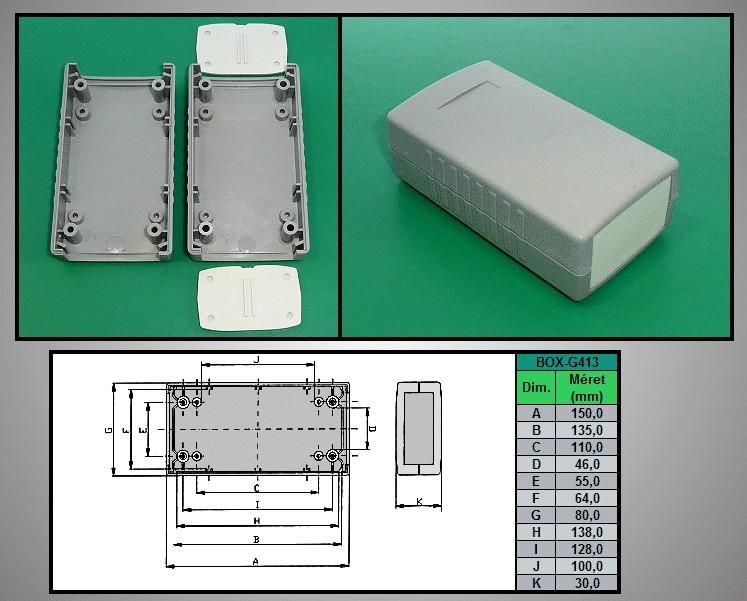 Project Box 150x80x30mm IP54 BOX G413 -