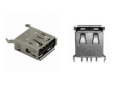 USB-A aljzat 4p. PCB Vert. (lábak 180°) CSAT-USB-A/1V