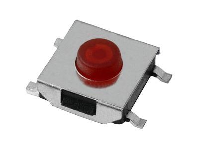 SMD mikrokapcsoló 6.3x6.3mm 4p. gomb:0.6mm SW1006L6/006
